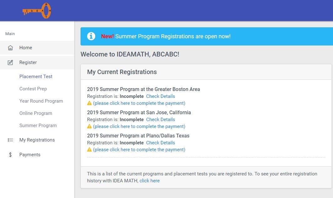 Registration Instructions Image